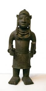Benin bronze (Male - front view)