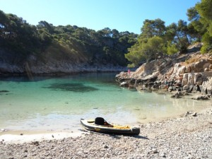 My borrowed kayak, one Calanque along from Cassis.