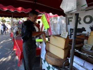 Classy, bulk cheese stall, Arles