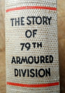 "The spine of the 1945 ""The Story of the 79th Armoured Division"""
