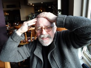 Poet and painter Chris Allinson, in the Bridge Inn at Shoreham