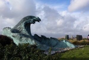 "The ""Selsey Wave"" (2007) is a three-dimensional homage to ""The Great Wave off Kanagawa"" by Japanese artist Hokusai, published sometime between 1830 and 1833 (Wikipedia tells us)."