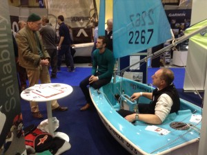 Hansa 303 twin-masted sailing dinghy which can be managed from the in-board comfortable seat in the stern.